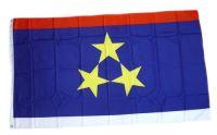Fahne / Flagge Serbien Vojvodina 90 x 150 cm