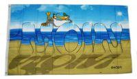 Fahne / Flagge Moin Moin Strand Möwe 90 x 150 cm