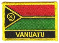 Fahnen Aufnäher Vanuatu Schrift