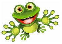 Aufkleber Sticker Frosch Kontur