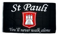 Fahne / Flagge St. Pauli You´ll never walk alone 90 x 150 cm