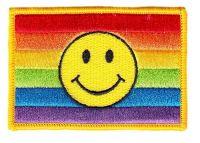 Aufnäher Patch Regenbogen Smile