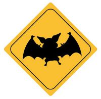 Aufkleber Sticker Achtung Fledermaus Autoaufkleber