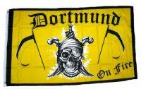 Fahne / Flagge Dortmund on Fire gelb 90 x 150 cm