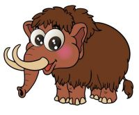 Aufkleber Sticker Mammut
