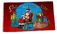 Fahne / Flagge Frohe Weihnachten Schaukelstuhl 90 x 150 cm