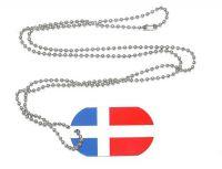 Erkennungsmarke Saarland 1947 - 1956 Dog Tag 30 x 50 mm Fahnen Flaggen