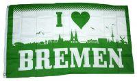 Fahne / Flagge I Love Bremen 90 x 150 cm