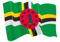 Fahnen Aufkleber Sticker Dominica wehend