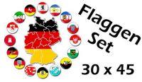 Flaggenset Deutschland 16 Bundesländer 30 x 45 cm