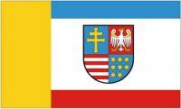 Fahne / Flagge Polen - Woiwodschaft Heiligkreutz 90 x 150 cm