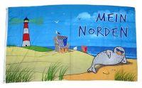Fahne / Flagge Mein Norden Leuchtturm 90 x 150 cm