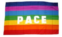 Fahne / Flagge Pace Regenbogen 30 x 45 cm