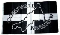 Fahne / Flagge England - Cornwall Silhouette 90 x 150 cm
