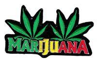 Aufnäher Patch Marijuana Hanfblatt