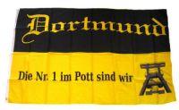 Fahne / Flagge Fußball Dortmund 90 x 150 cm