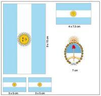 Fahnen Aufkleber Set Argentinien