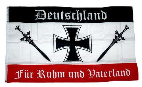 Fahne / Flagge Deutschland Ruhm und Vaterland 90 x 150 cm