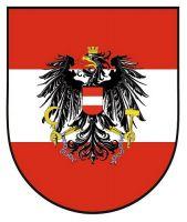 Wappenschild Aufkleber Sticker Österreich Adler