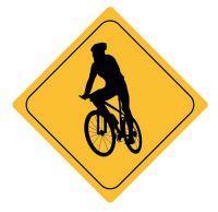 Aufkleber Sticker Achtung Radfahrer Autoaufkleber
