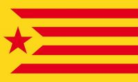 Fahne / Flagge Spanien - Estelada Groga 90 x 150 cm