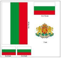 Fahnen Aufkleber Set Bulgarien