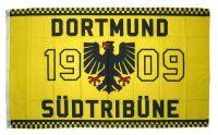Fahne / Flagge Dortmund 1909 Südtribüne 90 x 150 cm