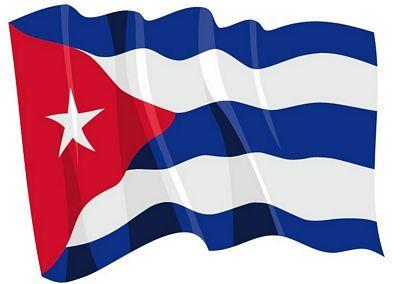 Fahnen Aufkleber Sticker Kuba wehend