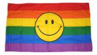 Flagge Fahne Regenbogen Smile 30 x 45 cm