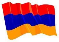 Fahnen Aufkleber Sticker Armenien wehend