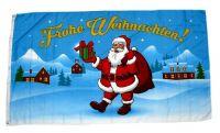 Fahne / Flagge Frohe Weihnachten Geschenk NEU 90 x 150 cm