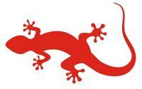 Aufkleber Sticker Lizard Eidechse rot
