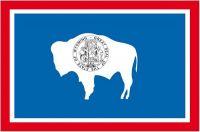 Fahnen Aufkleber Sticker USA - Wyoming