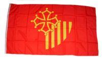 Fahne / Flagge Frankreich - Languedoc Roussillon 90 x 150 cm