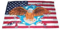 Fahne / Flagge USA - Adler 30 x 45 cm