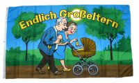 Fahne / Flagge Endlich Großeltern 90 x 150 cm
