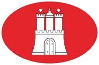 Wappen Aufkleber Sticker Hamburg