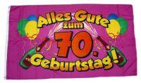 Fahne / Flagge Alles Gute zum 70. Geburtstag 90 x 150 cm