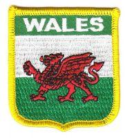 Wappen Aufnäher Fahne Wales