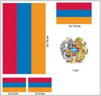 Fahnen Aufkleber Set Armenien