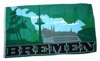 Fahne / Flagge Bremen Silhouette 90 x 150 cm