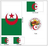 Fahnen Aufkleber Set Algerien