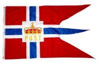 Fahne / Flagge Norwegen Post Hurtigruten 90 x 150 cm