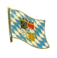 Flaggen Pin Freistaat Bayern mit Wappen Anstecknadel