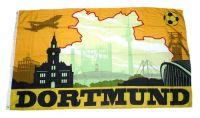 Fahne / Flagge Dortmund Silhouette 90 x 150 cm