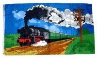 Fahne / Flagge Dampflok Eisenbahn