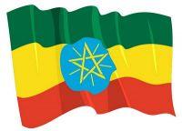 Fahnen Aufkleber Sticker Äthiopien wehend