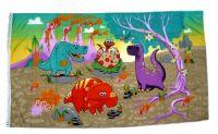 Fahne / Flagge Dinosaurier Vulkan 90 x 150 cm