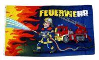 Fahne / Flagge Feuerwehr Feuerwehrmann 90 x 150 cm