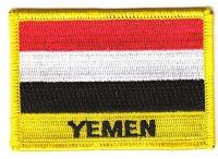 Fahnen Aufnäher Jemen Schrift